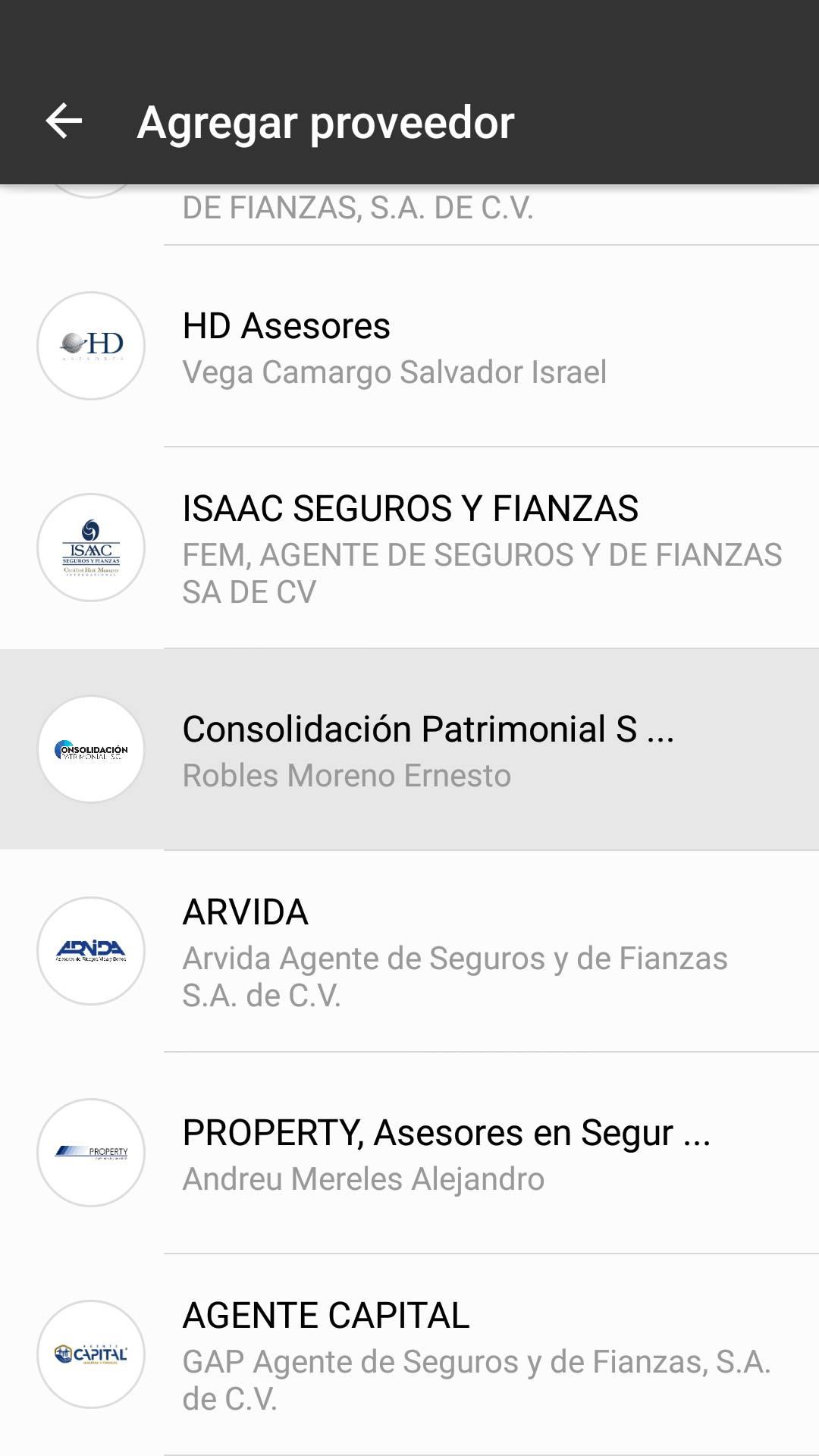 3 Elige Consolidación Patrimonial.