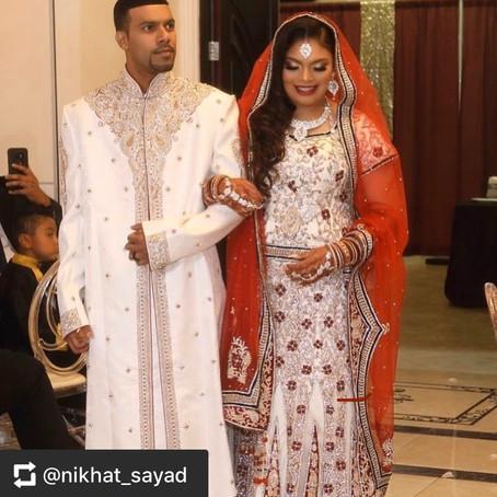 Beautiful bride & groom