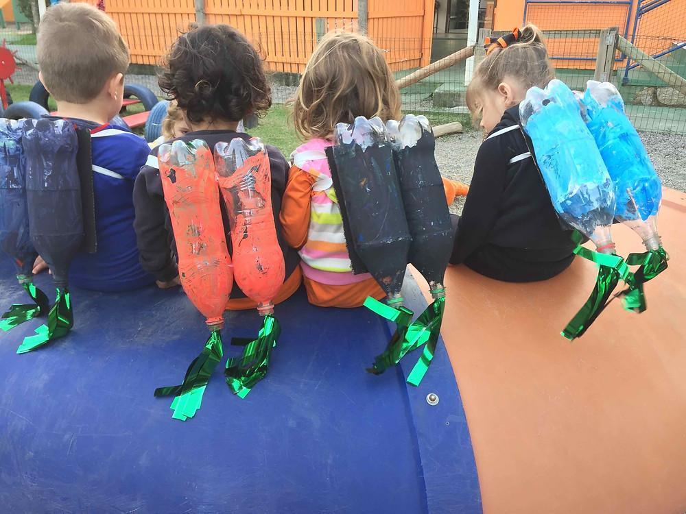 """turma do Infantil 2 embarcou em uma nova aventura com o projeto """"Como Pegar uma Estrela"""""""