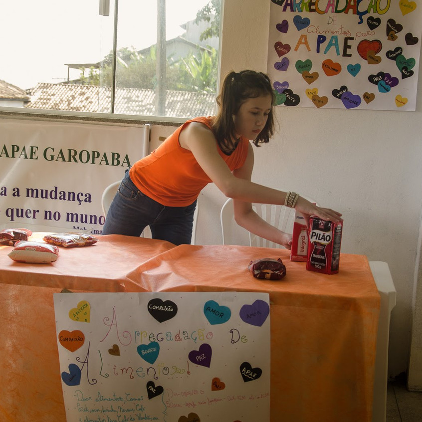 Arrecadação de alimentos para a APAE 7º ano