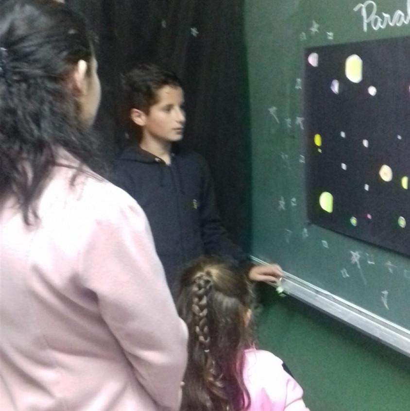 O quinto ano resolveu descobrir os mistérios do universo.