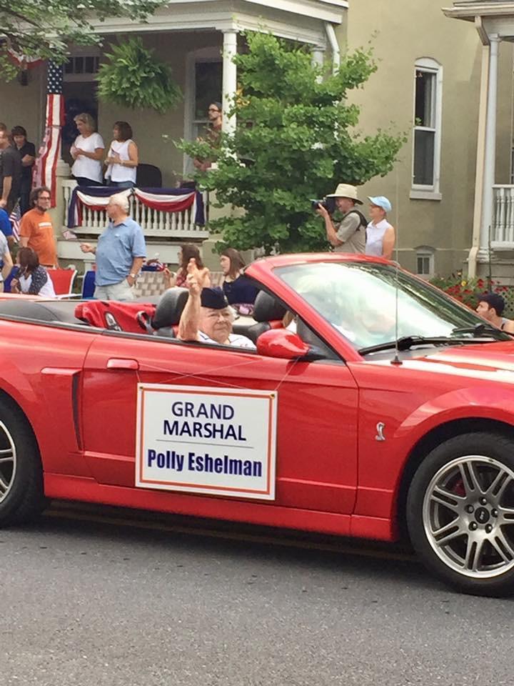 Grandma Esh in the 4th of July Parade, 2017