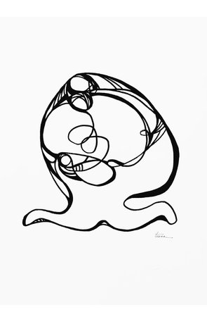 Line Drawing Series, Nativity 10, Limited Edition Print 1/75