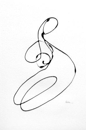 Line Drawing Series, Woman 12, Original