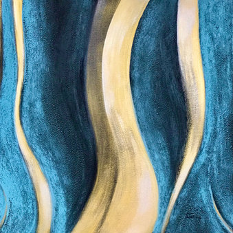 Abstract Blue 2, The Garden Series Original Artwork