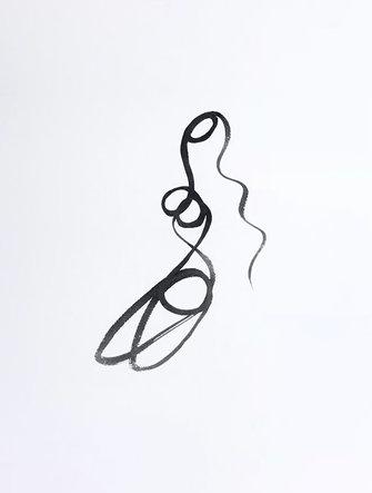Line Drawing Series, Woman 15, Original