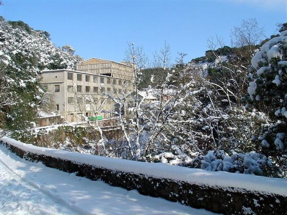 Peace Factory sous la neige