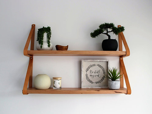 Leather Strap Shelves