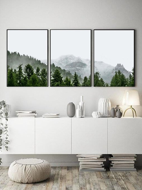 Forest Mountain Print - Set of 3