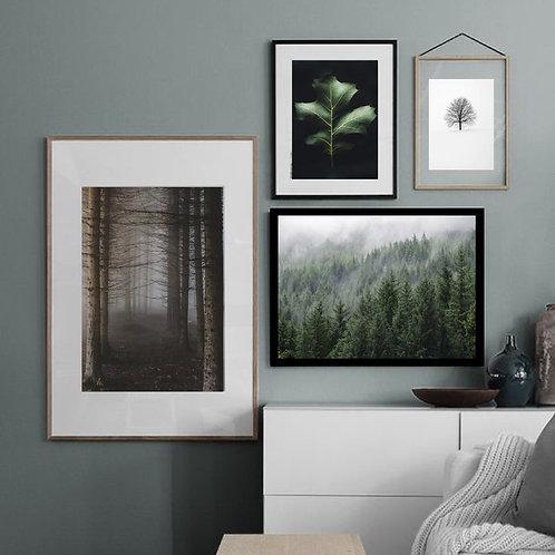 Scandinavian Forest Prints - Set of 4