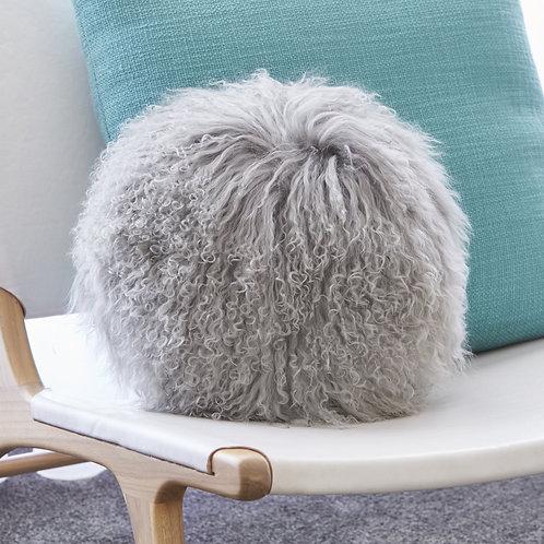 Mongolian Sheepskin Round Cushion - Various Colours