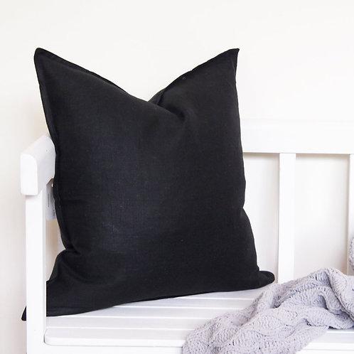 Linen Cushion - Black