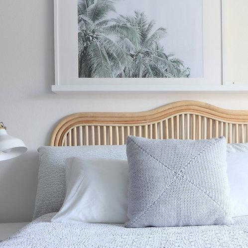 Square Cotton Cushion - Light Grey