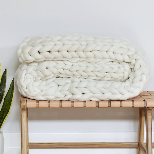 Chunky Knit Blanket - Various Colours