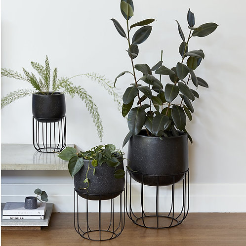 Black Oslo Planter - Various Sizes
