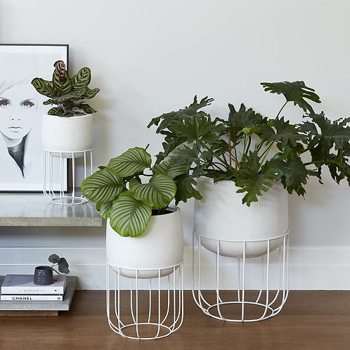 White Oslo Planter - Various Sizes