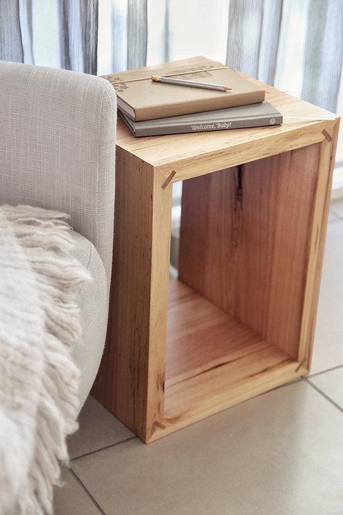 Tasmanian Oak Cube Side Table