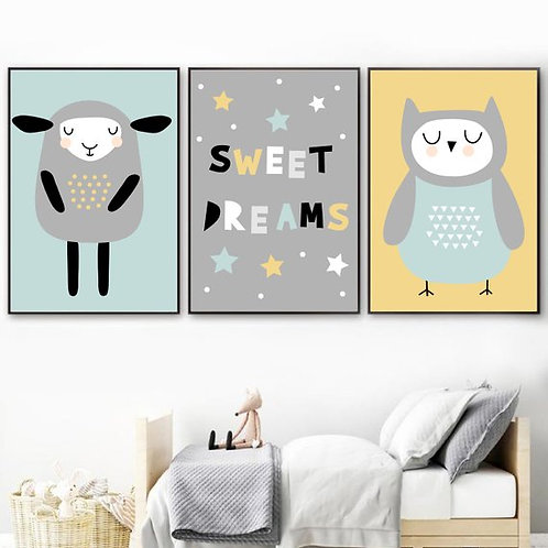 Sweet Dreams Prints - Set of 3