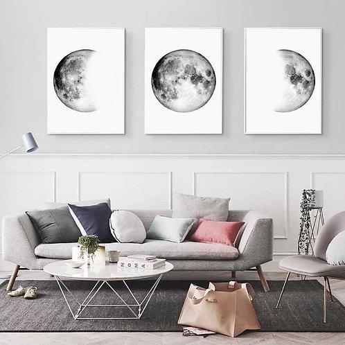 Moon Prints - Set of 3