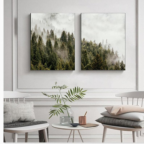 Forest Fog Prints - Set of 2
