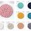 Thumbnail: Round Felt Trivet - Assorted Colours Available