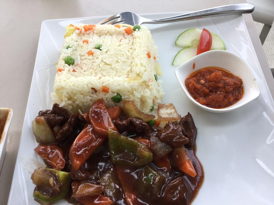 Fried Rice and Beef Sauce