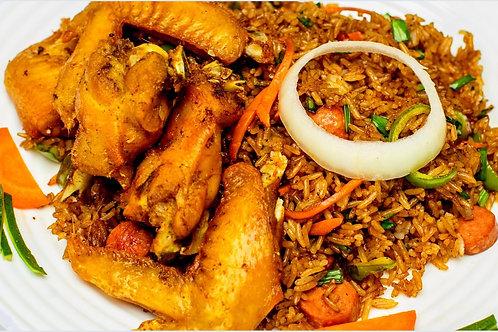Berkies Vegetable rice with Chicken Wings