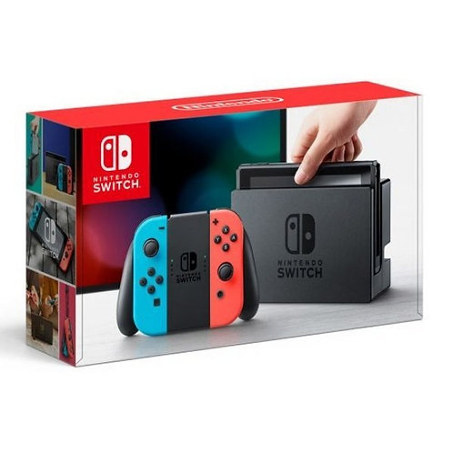 Nintendo Switch with Neon Blue and Neon Red Joy‑Con – 32GB, PAL