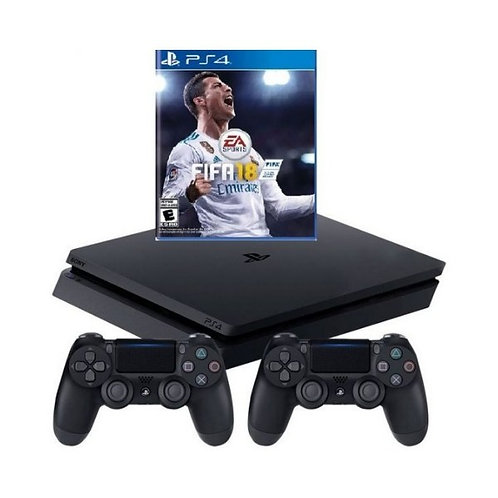 PlayStation 4 – console (1TB, black, slim) incl. FIFA 18 + Extra  Controller