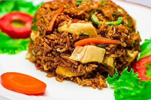 Berkies Shredded Chicken Fried Rice