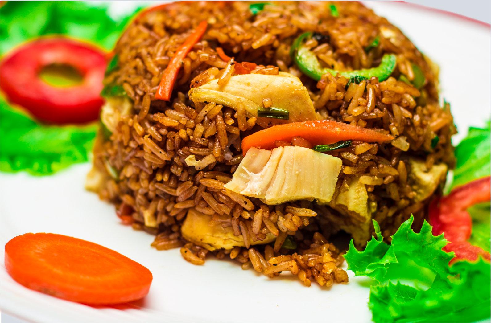 Shredded Chicken Fried Rice