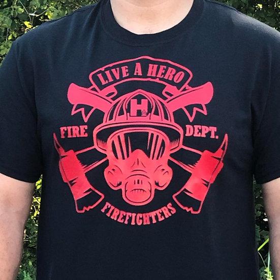 Live A Hero Fire Dept. Shirt