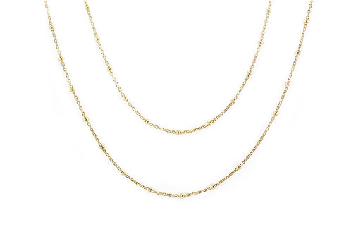 Gold Double Wrap Bobble Chain
