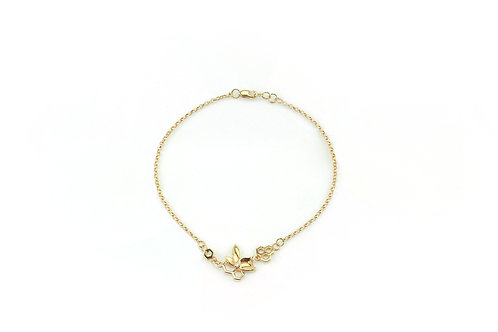 Gold Bee Flower Bracelet