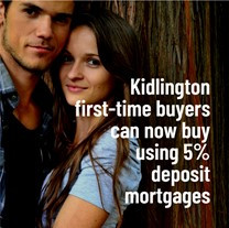Kidlington First-time Buyers Can Now Buy Using 5% Deposit Mortgages