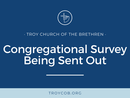 Congregational Survey Being Sent Out