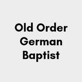 Old Order German Baptist