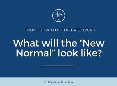"What will the ""New Normal"" look like?"