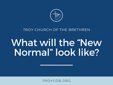 """What will the """"New Normal"""" look like?"""