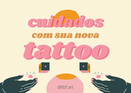 Cuidados com a sua nova Tattoo