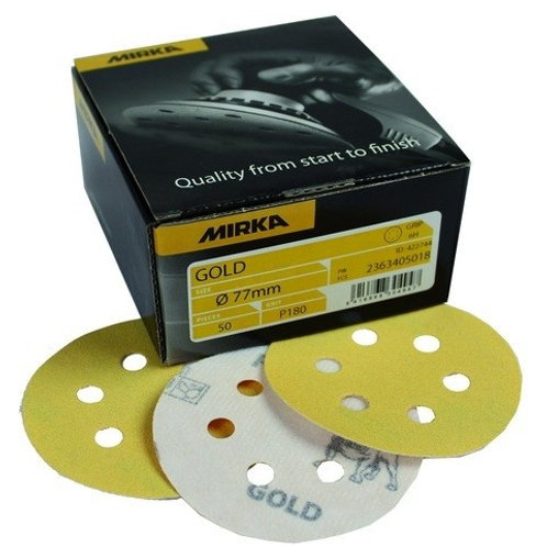 Mirka 77mm Gold Sanding Discs - (50)