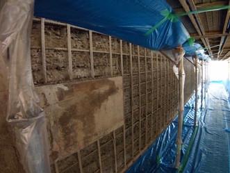 壁面修復施工