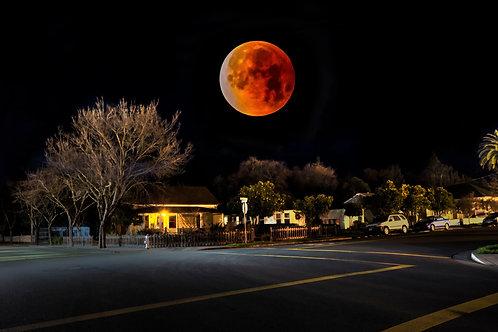 Super Blue Blood Moon - Sonoma, California