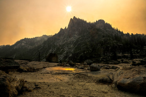 Fire Light - Trinity Alps, California