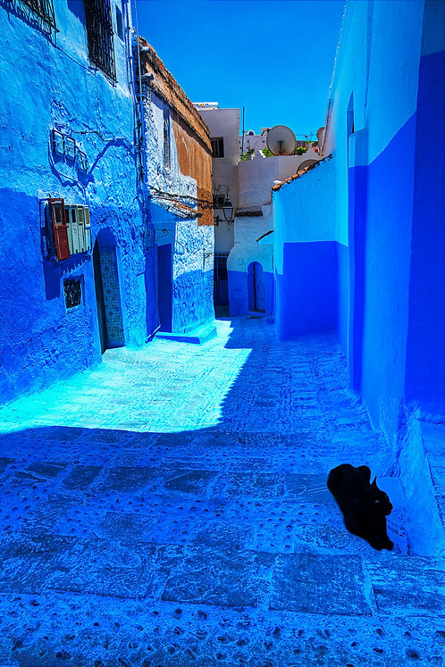 Black And Blue - Chefchaouen, Morocco