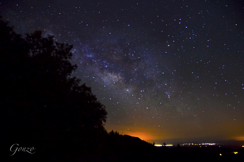 MilkyWay over City Lights