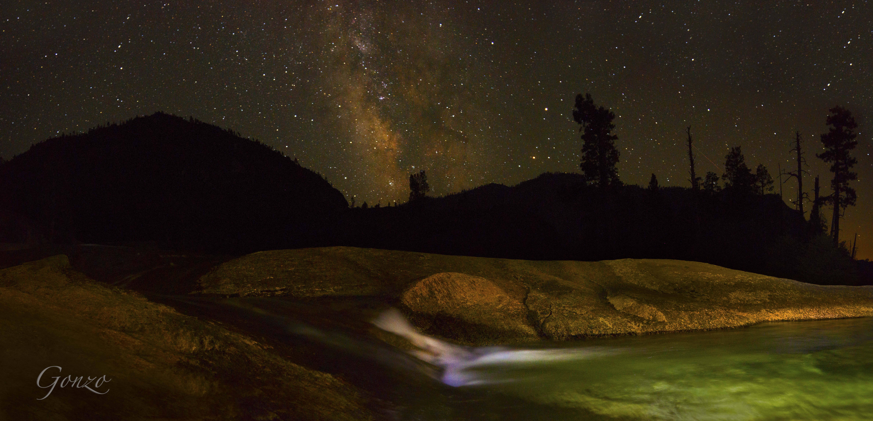 Waterfall Milky Way