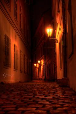 Dark Alley in Prague