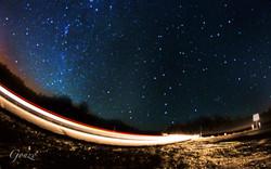 Car into the Milky Way