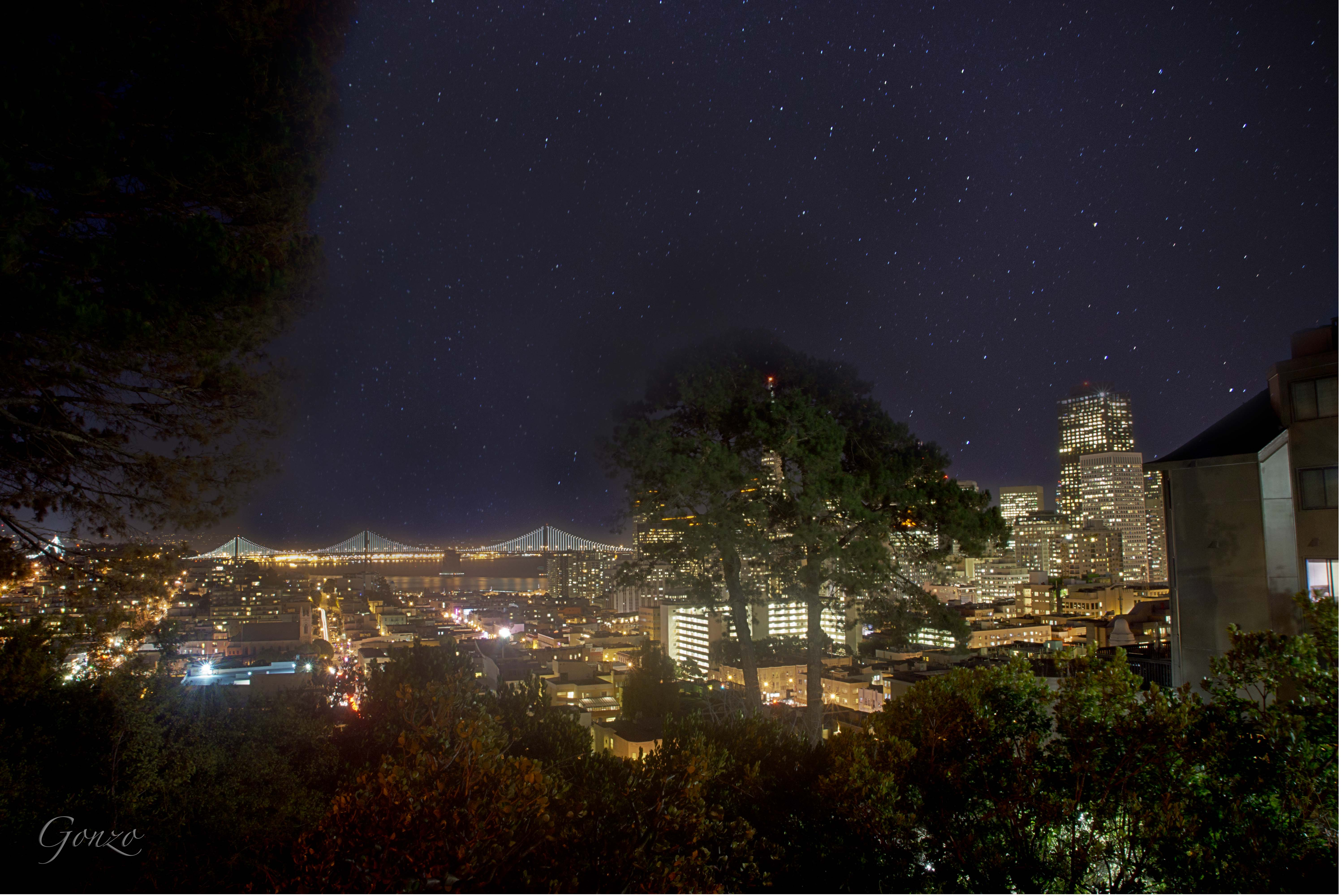 A Starry Night in San Francisco